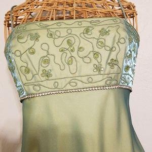 Beautiful green Betsy and Adam Prom Dress